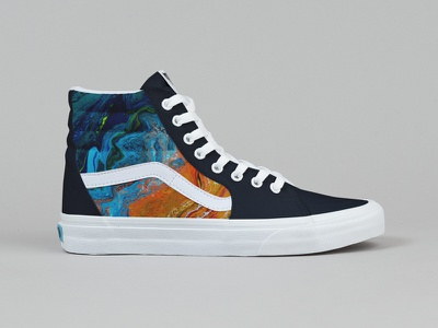 Vans x San Elijo #2 beach abstract brand painting art photoshop design colorful lifestyle footwear