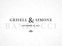 Grisell & Simone Wedding Logo