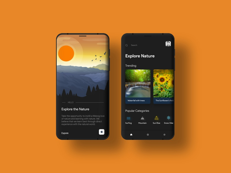 Explore The Nature Mobile UI/UX firstshot xd ngima ux uiux ui mobile