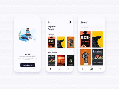 Kitab | Book App for passionate readers ux uiux ui app design clean concept app book