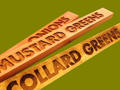 Redwood gardening signs