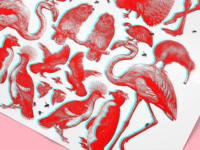 3D Birds + Bees