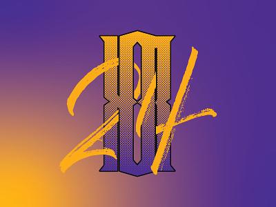 KB * 8 * 24 monogram script logo monogram letters lettering type typography los angeles lakers la lakers ripblackmamba 24 8 lakers kobe bryant kobe black mamba