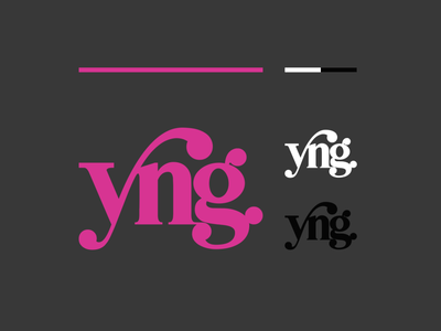 yng. typography wordmark lettering letters type pink young young logo logo yng