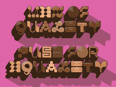 Men of quality design letters typography type