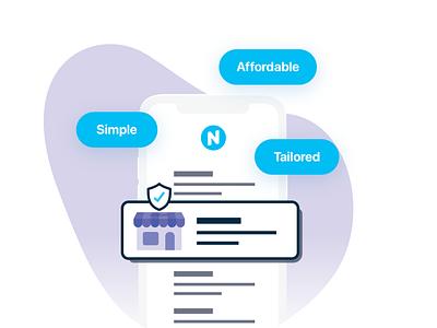 Next Insurance - Illustration and Product Design small business insuretech fintech design product design illustration