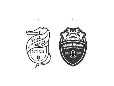 A or B? sports branding branding logo crest design college football florida gators podcast gators sports logo sports