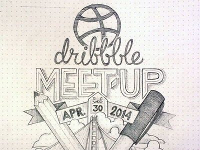 Dribbble meet up at Yahoo dribbble meetup sketch lettering letters type typography illustration blackbook drawing