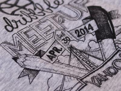 Dribbble meet-up at Yahoo t-shirt