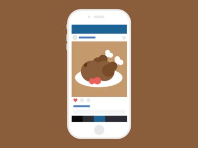 #turkey thanksgiving white iphone ui instagram turkey