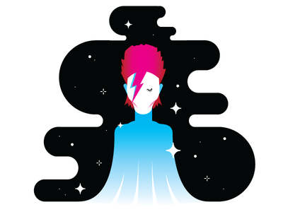 Bowie stars pink hot pink space space man david bowie bowie