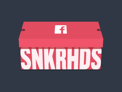 facebook SNKRHDS shoe box red sneaker head sneakers