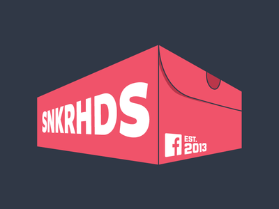 facebook SNKRHDS 2 shoe box red sneaker head sneakers
