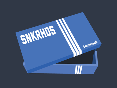 facebook SNKRHDS 3 shoe box red sneaker head sneakers