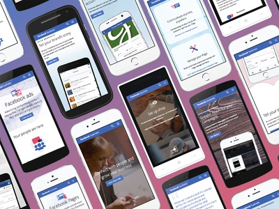 Facebook business advertising paralax ux ui facebook