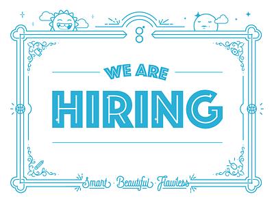 We are hiring! (Art Director, B2B marketing) jobs marketing line art illustration type design hiring