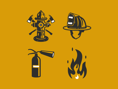 Firefighter Icon Set ai fire extinguisher extinguisher firefighter helmet fire hydrant icon set fire firefighter
