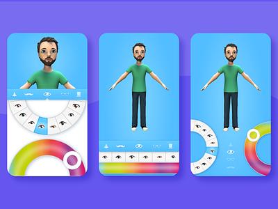 Avatar Creator UI app design web ux product design iphone app ios app animation ui design