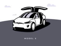 Telsa Model X Illustration