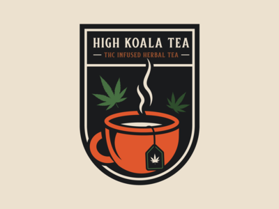 High Koala Tea Badge