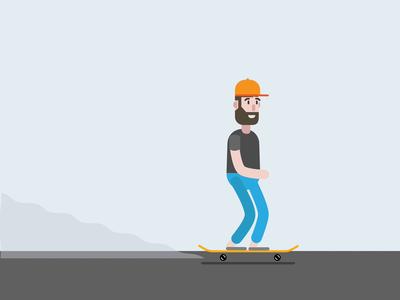 Ben's skating again!