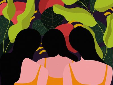 Women vector storytelling poster feminism art visualart design illustration