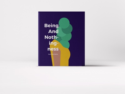 Being and nothingness - Book Cover adobe adobe illustrator vector illustration vectorart book cover art visualart illustration