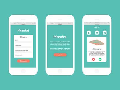 2016 school project - Mandat game typography app vector ui