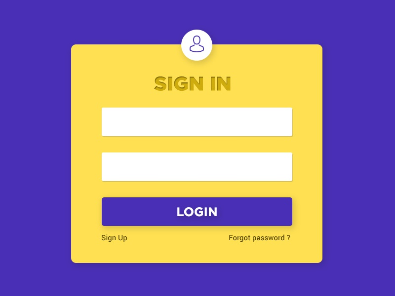 Freebies login screen sample