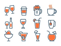 Download Drinks Icons Set