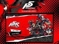 Persona 5R Web Design Concept
