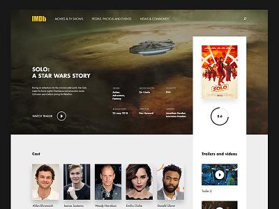 IMDB page concept star wars desktop web page ux ui movies movie page imdb