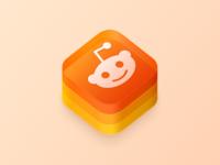 New Sub /r/CustomAppIcons glass logo reddit app icon icons