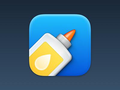 PastePal App Icon dock icon big sur icon glue sticky macos big sur big sur macos mac icon app icons app icon