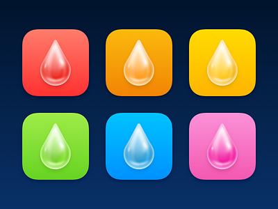 Waterlytics Alternate App Icon app icon design reflection skeumorphism ios app design ios iphone waterdrop drop water app icon icons app icon