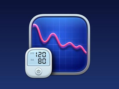 BP Bot App Icon blood pressure graph app icon design monitor macos icon macos big sur macos app app icon