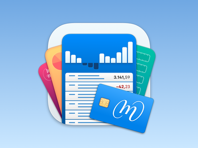 MoneyMoney App Icon charts diagram balance credit card sketchapp madewithsketch macos icon macos big sur dock icon mac big sur big sur icon macos icon app icon