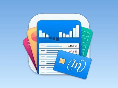 MoneyMoney App Icon charts diagram balance credit card sketchapp madewithsketch macos icon macos big sur dock icon mac big sur big sur icon macos icon app icon