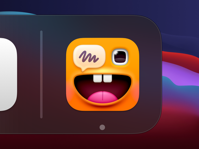 Charabia App Icon app icon design illustration monster eye ios icon ios macos icon macos big sur macos app app icon
