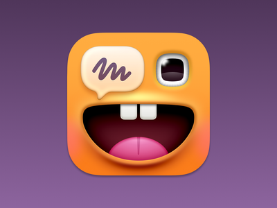 Charabia App Icon app icon design illustration monster eye ios icon ios macos icon macos big sur macos app app icon
