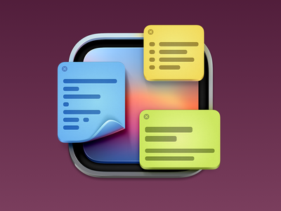 Quick Note App Icon big sur icon madewithsketch sticky note big sur notes mac app macos big sur macos icon app icon app icon icons