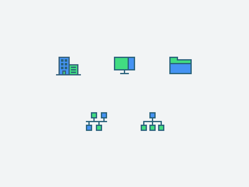 Backend Icons color outline flat outline icon office connection screen folder backend icons