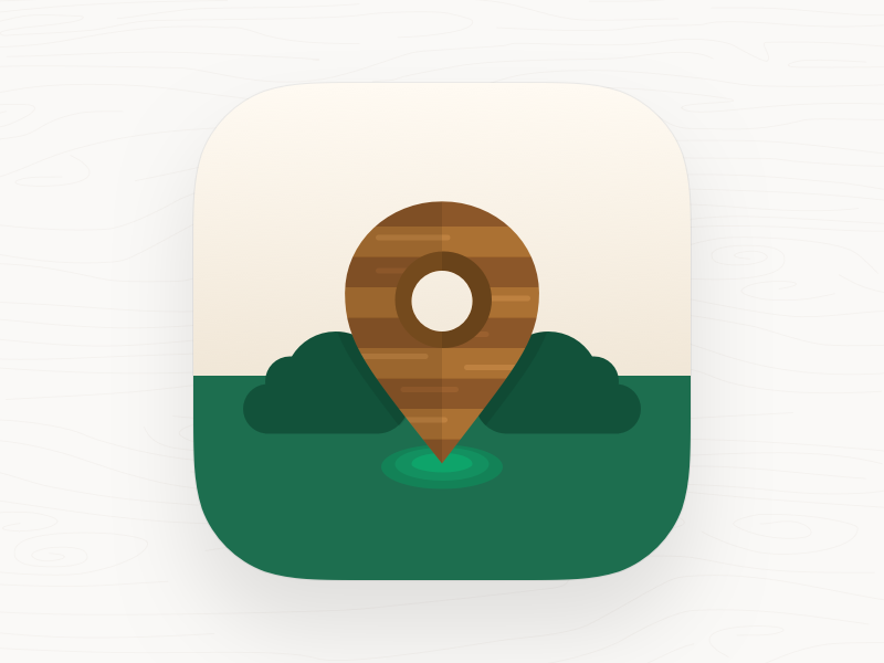 Nearby Wooden Houses Icon illustration flat nearby location wood icon app app icon ios