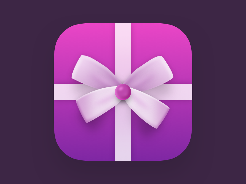 Gift App Icon icon flat iphone ios gradient gift app icon app