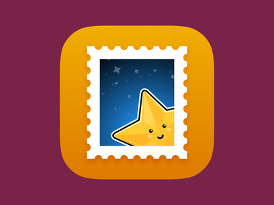 Stamp App Icon colorful gradient flat ios app icon icon app