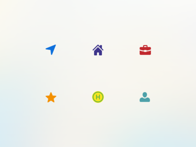 Map Search Icons
