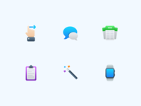 Semi-Flat Feature Icons vol. 3