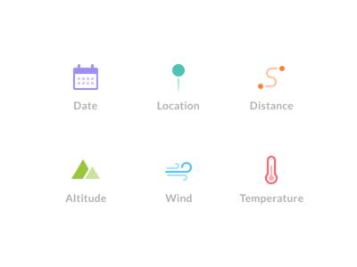 Flight Stats Icons