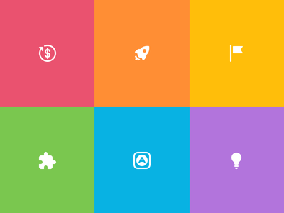 Category icons category glyph icons icon bulb idea app extension flag rocket dollar