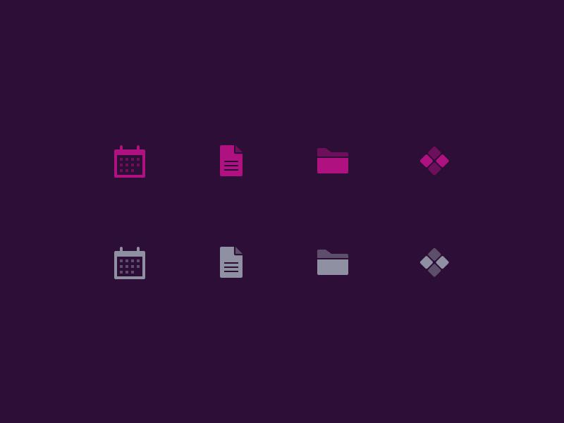 Tabbar Icons folder document calendar vibrant tab bar icons tabbar ios